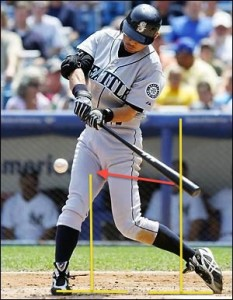 Even singles hitters must get their barrel in the way of the baseball!
