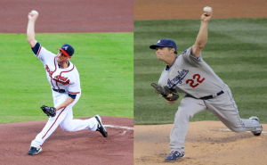 Brandon Beachy showing a weak finish vs. Kershaw showing a strong finish