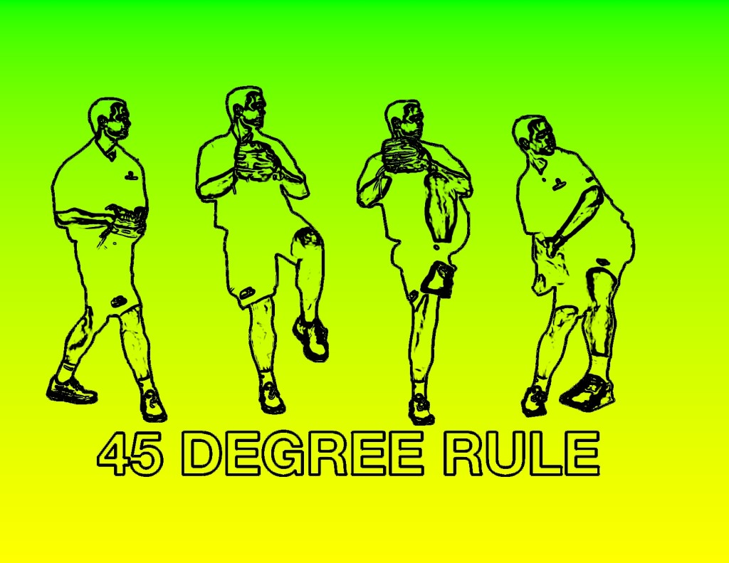 45 degree rule in pitching