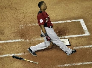 Robinson Cano Wins the 2011 HR Derby, Cano Weight Back, Cano Swing Mechanics