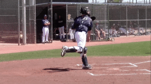 Austin Hedges Throwing Finish