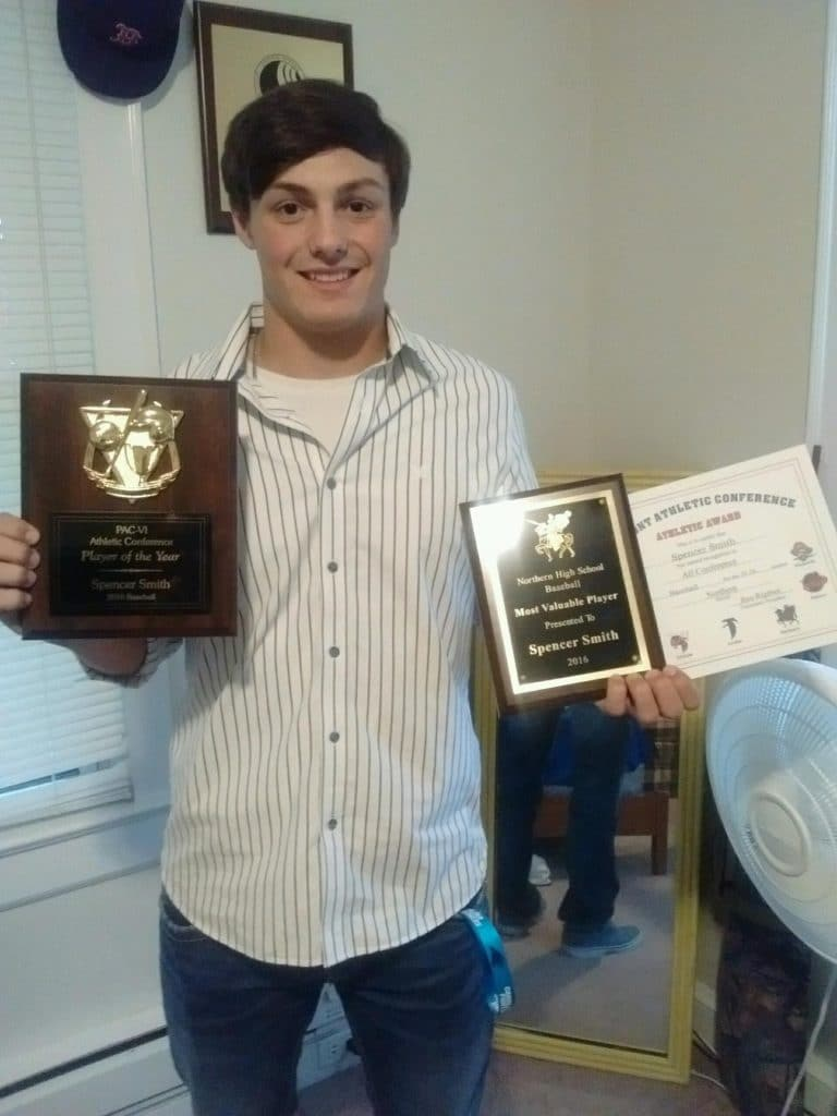 Spencer Smith w his awards