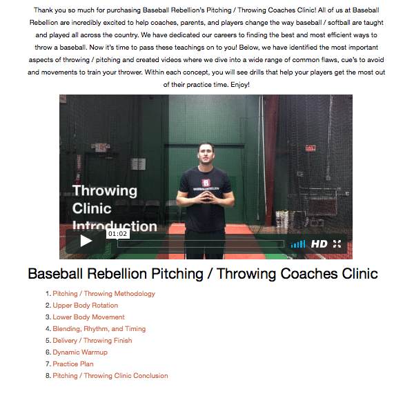 Throwing / Pitching Coaches Clinic