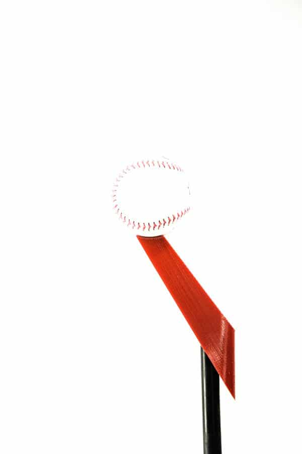 Red Adapter Top with Baseball