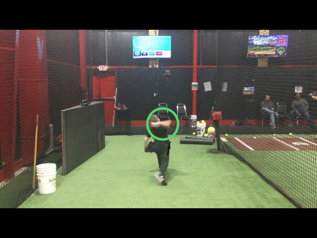 arm position in pitching