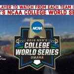 Players from Women's College World Series