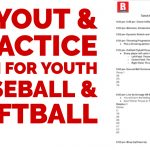 Tryout Itinerary for Youth Baseball & Softball