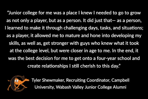Junior College Baseball Quote