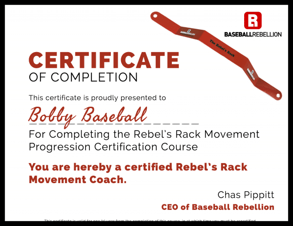 Rebel's Rack Movement Course Certificate