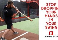 Stop dropping your hands in your swing