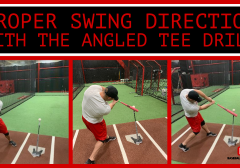 Proper Swing Direction Angled Tee Drill