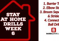 Stay at home hitting drills week 6