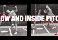 hitting the low and inside pitch